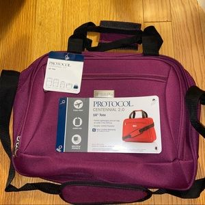 """NWT Purple 16"""" Luggage Tote Carry On"""